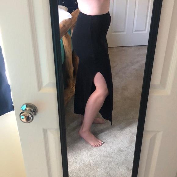 Forever 21 Dresses & Skirts - Black Slitted Maxi Skirt